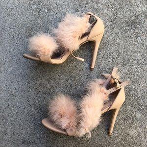 Fluffy Strappy Heel